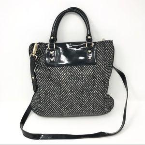 Kate Spade Herringbone Print Crossbody Bag Black